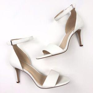 Nine West   Nizzy White Ankle Strap Heel